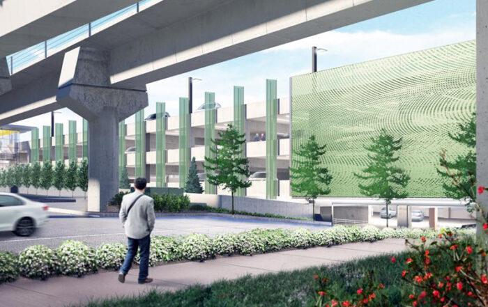 Rushing project - Sound Transit South Bellevue garage